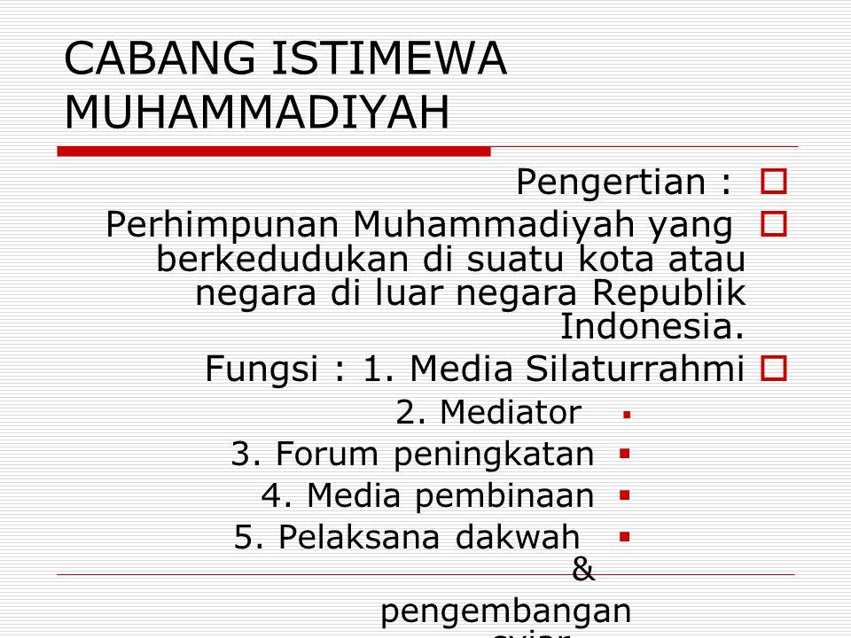 CABANG ISTIMEWA MUHAMMADIYAH
