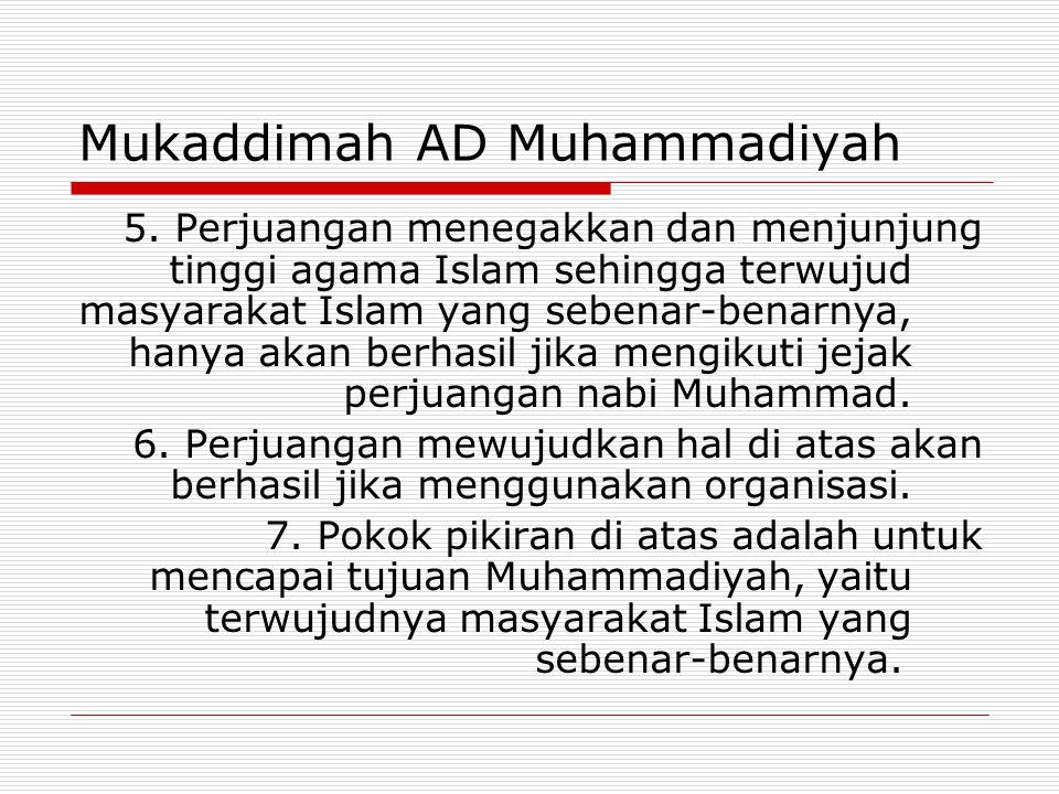 Mukaddimah AD Muhammadiyah