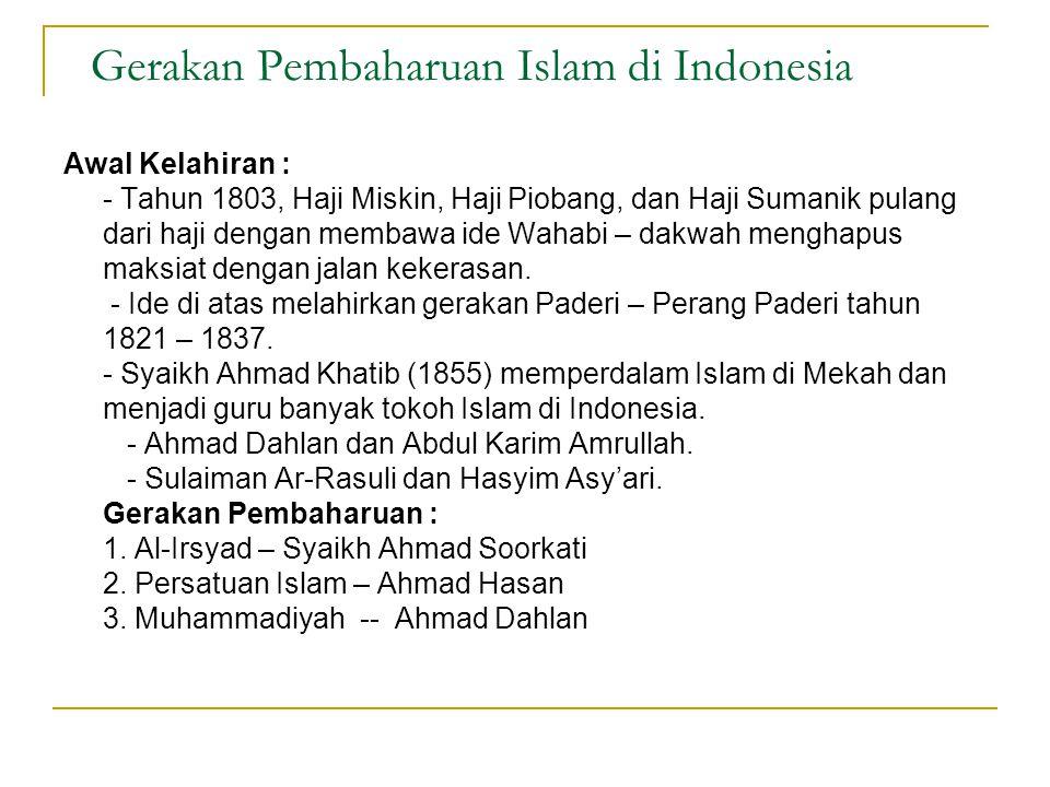 Gerakan Pembaharuan Islam di Indonesia