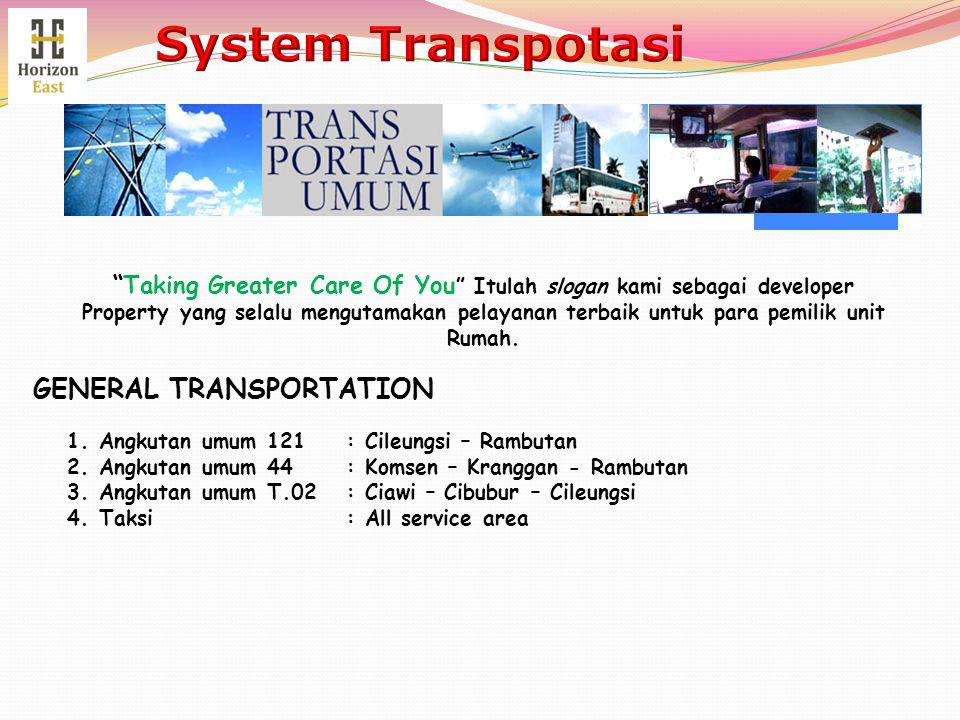 System Transpotasi GENERAL TRANSPORTATION