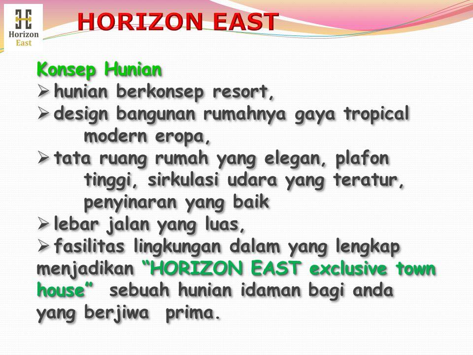 HORIZON EAST Konsep Hunian hunian berkonsep resort,