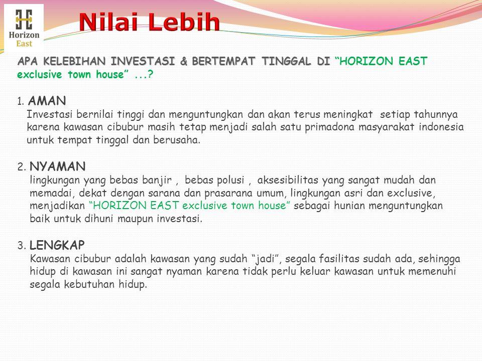 Nilai Lebih APA KELEBIHAN INVESTASI & BERTEMPAT TINGGAL DI HORIZON EAST exclusive town house ...