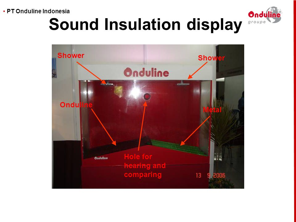 Sound Insulation display