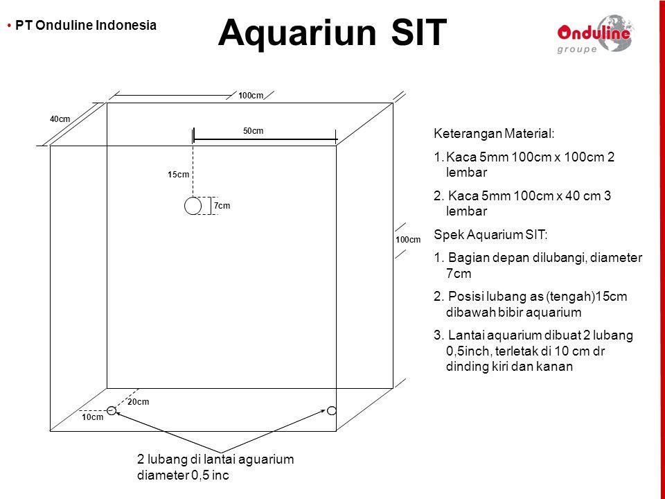 Aquariun SIT Keterangan Material: Kaca 5mm 100cm x 100cm 2 lembar