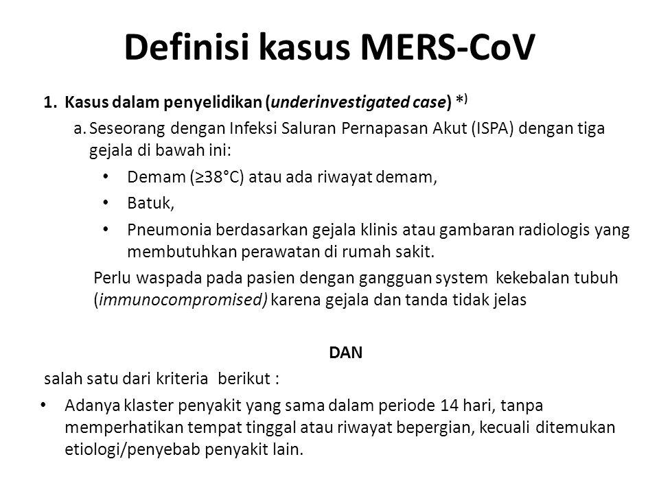 Definisi kasus MERS-CoV