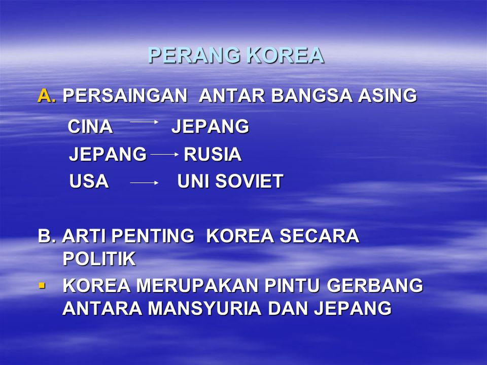 PERANG KOREA CINA JEPANG PERSAINGAN ANTAR BANGSA ASING JEPANG RUSIA