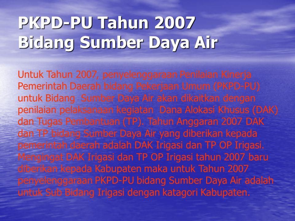 PKPD-PU Tahun 2007 Bidang Sumber Daya Air