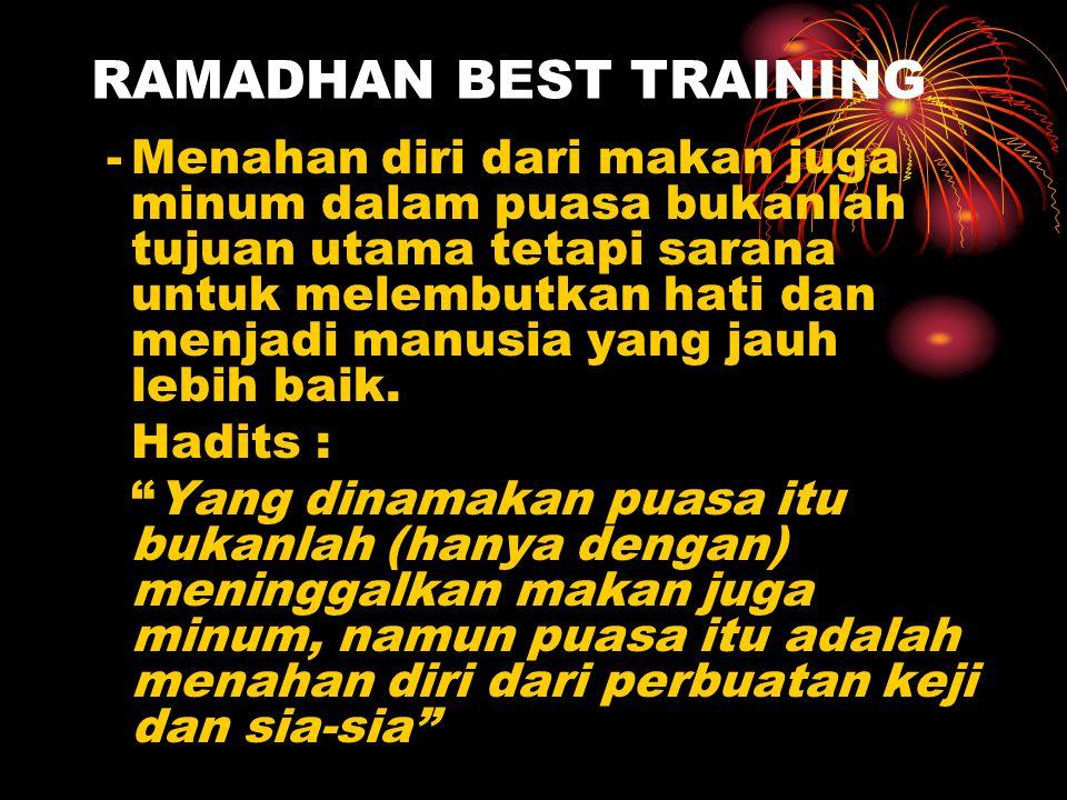 RAMADHAN BEST TRAINING