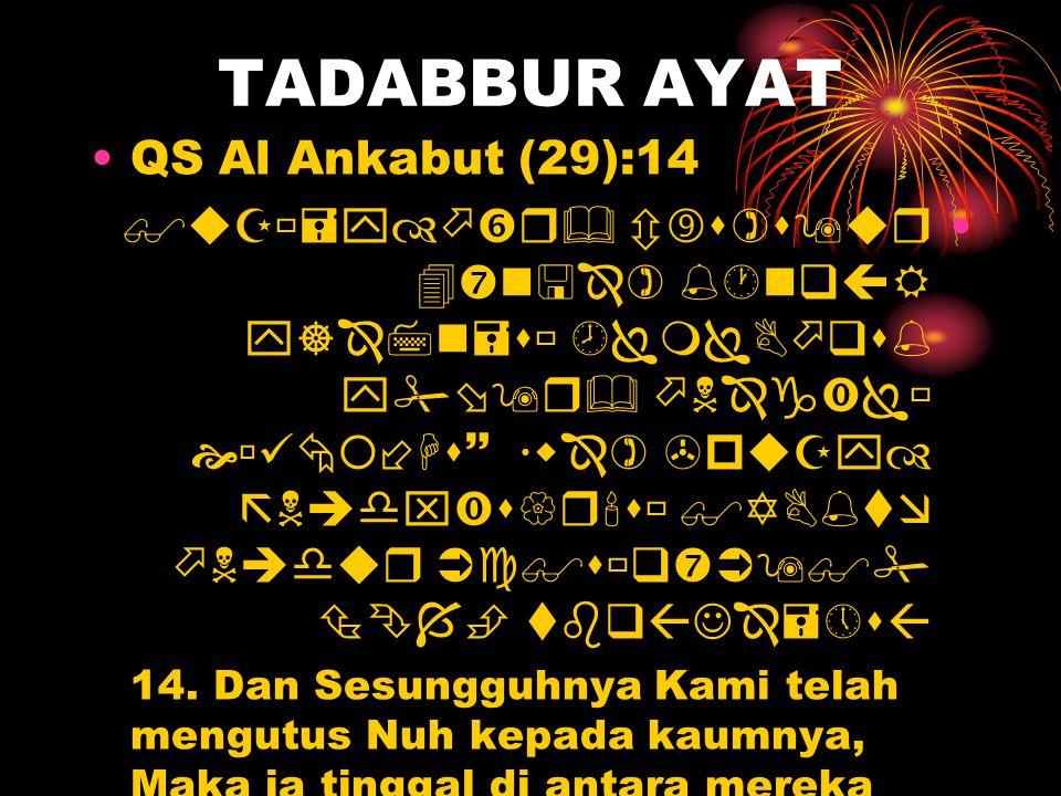 TADABBUR AYAT QS Al Ankabut (29):14