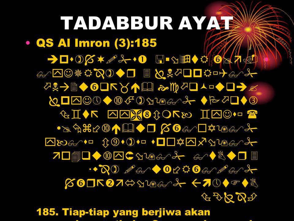 TADABBUR AYAT QS Al Imron (3):185