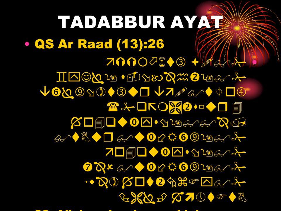 TADABBUR AYAT QS Ar Raad (13):26