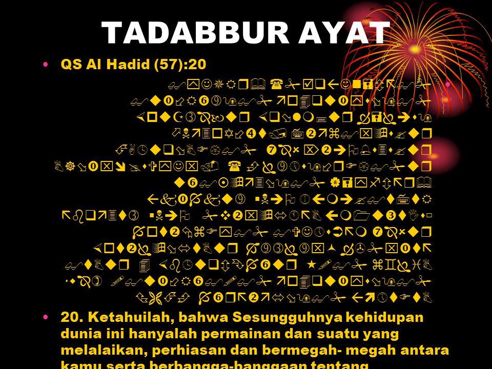 TADABBUR AYAT QS Al Hadid (57):20