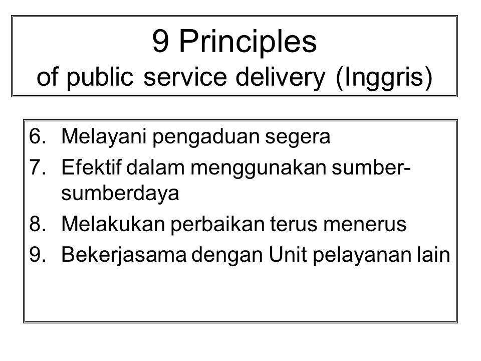 9 Principles of public service delivery (Inggris)