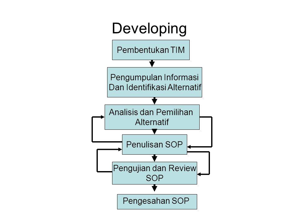 Developing Pembentukan TIM Pengumpulan Informasi
