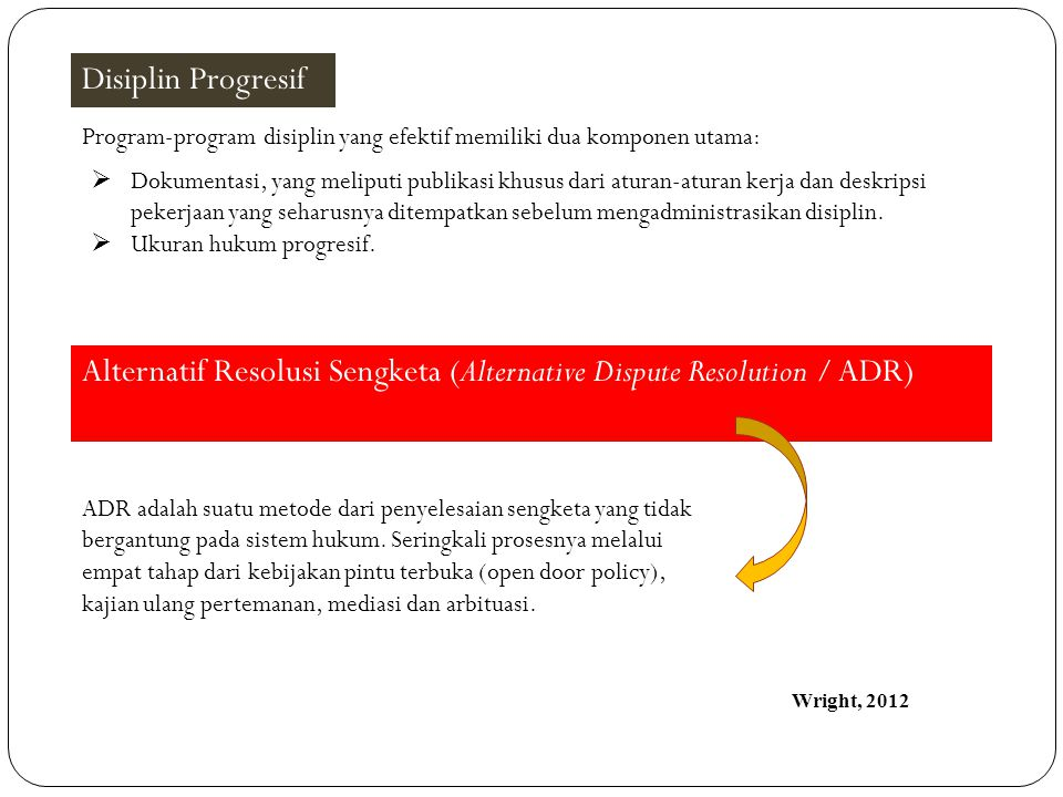 Alternatif Resolusi Sengketa (Alternative Dispute Resolution / ADR)