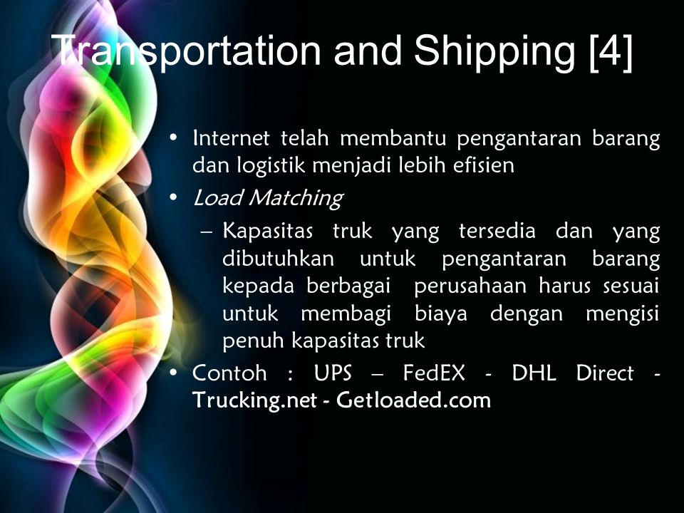 Transportation and Shipping [4]