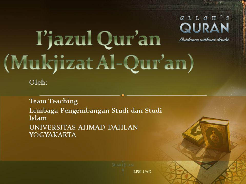I'jazul Qur'an (Mukjizat Al-Qur'an)