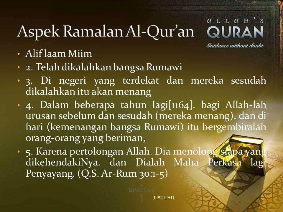 Aspek Ramalan Al-Qur'an