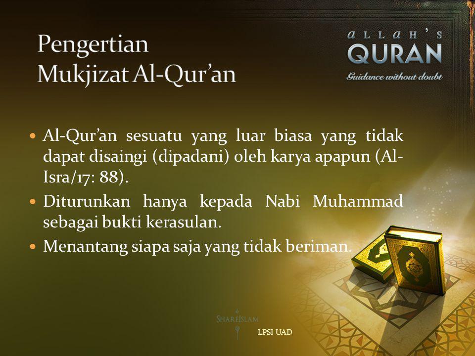 Pengertian Mukjizat Al-Qur'an