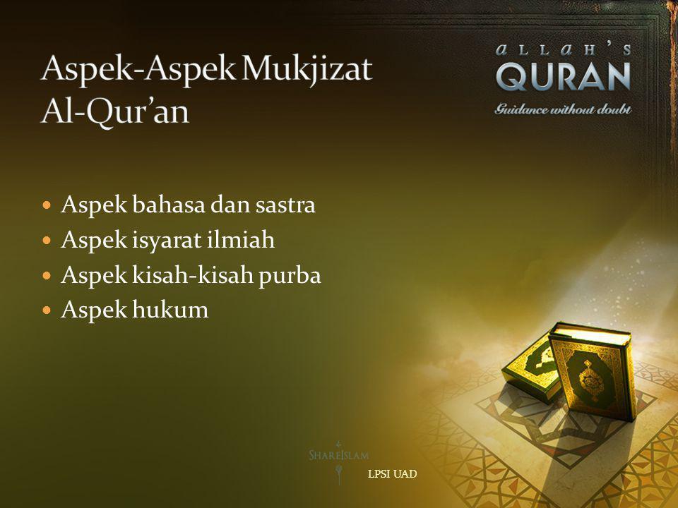 Aspek-Aspek Mukjizat Al-Qur'an