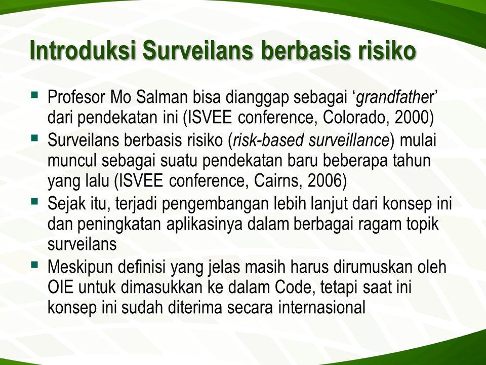 Introduksi Surveilans berbasis risiko