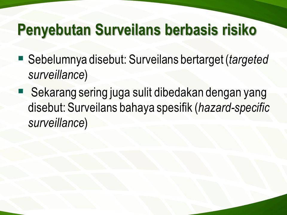 Penyebutan Surveilans berbasis risiko
