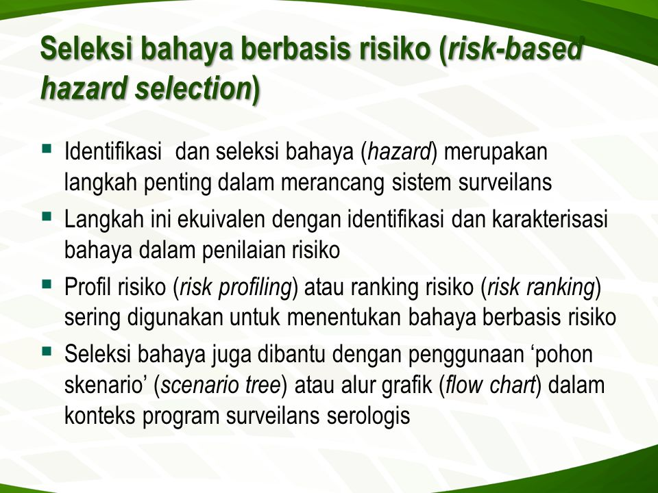 Seleksi bahaya berbasis risiko (risk-based hazard selection)