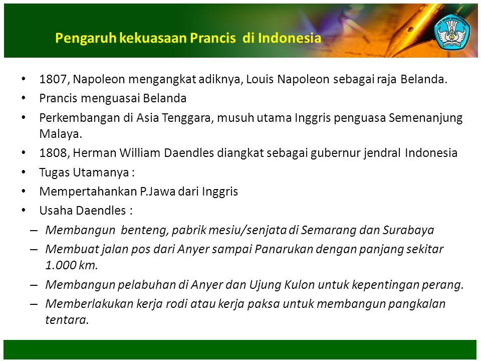 Pengaruh kekuasaan Prancis di Indonesia