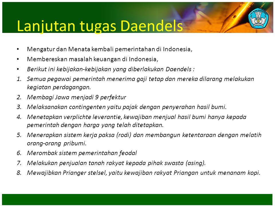 Lanjutan tugas Daendels