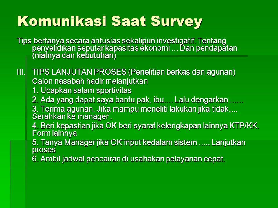 Komunikasi Saat Survey
