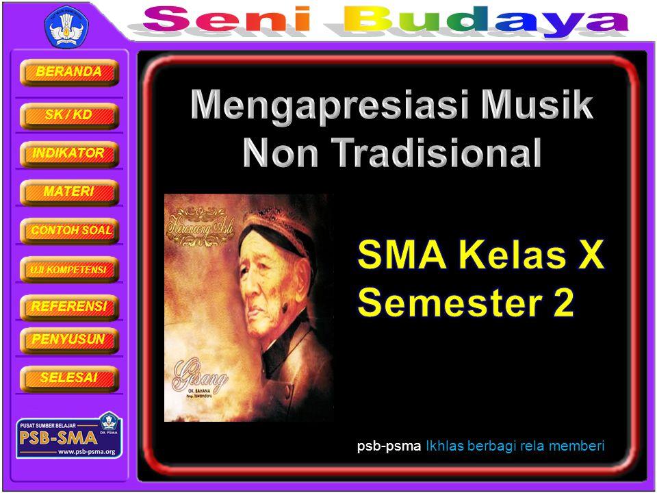 Mengapresiasi Musik Non Tradisional
