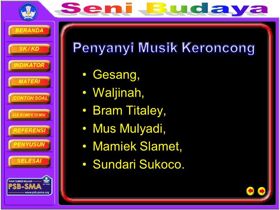 Penyanyi Musik Keroncong