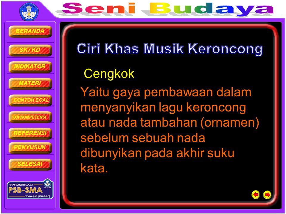 Ciri Khas Musik Keroncong