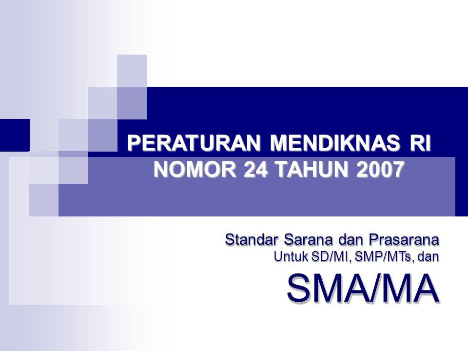 PERATURAN MENDIKNAS RI NOMOR 24 TAHUN 2007