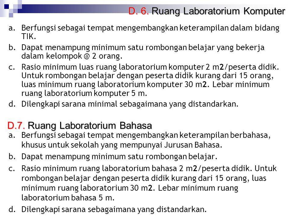 D.7. Ruang Laboratorium Bahasa