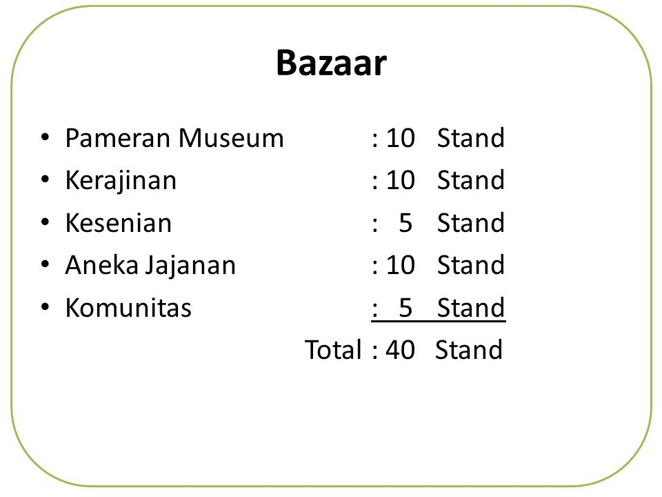 Bazaar Pameran Museum : 10 Stand Kerajinan : 10 Stand