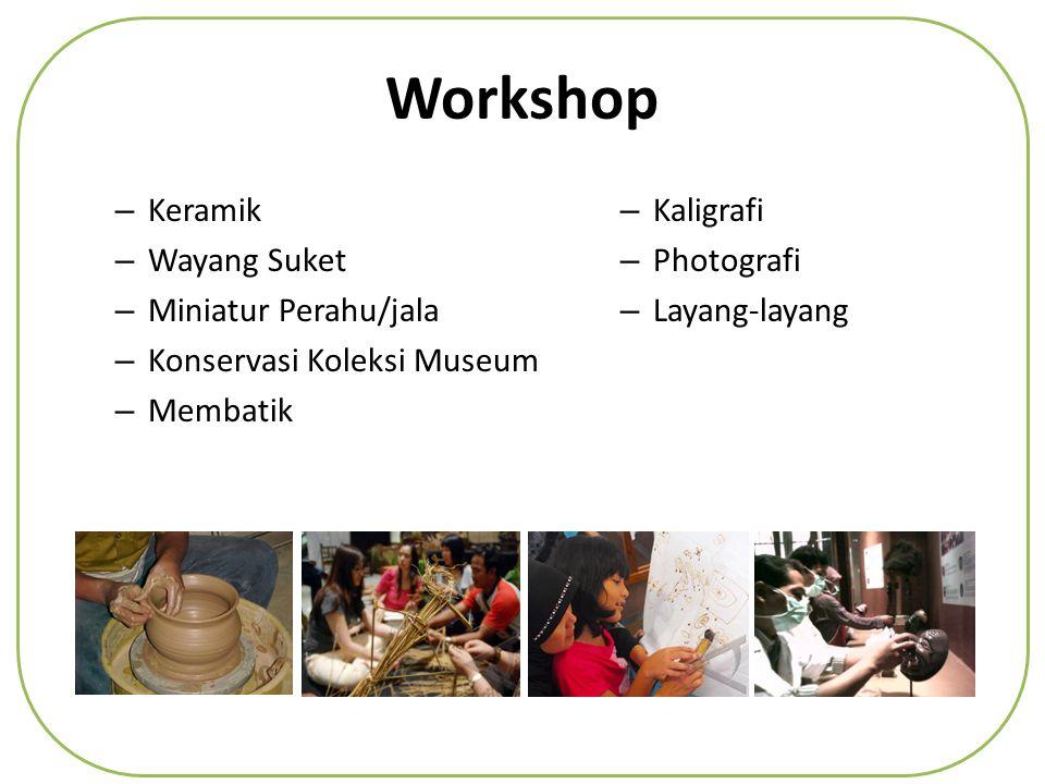 Workshop Keramik Wayang Suket Miniatur Perahu/jala