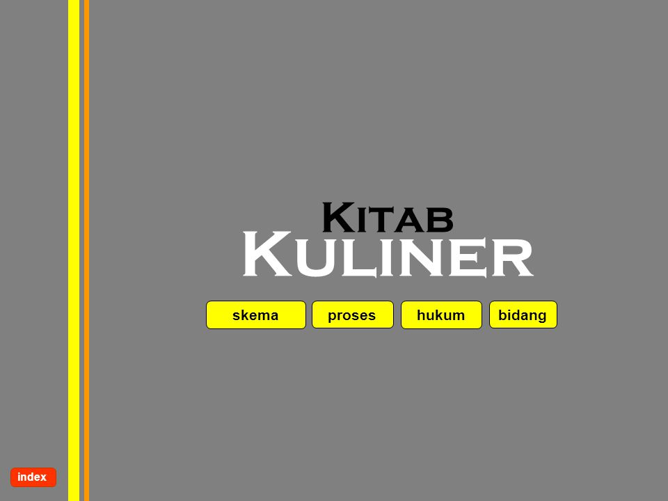 Kitab Kuliner skema proses hukum bidang index