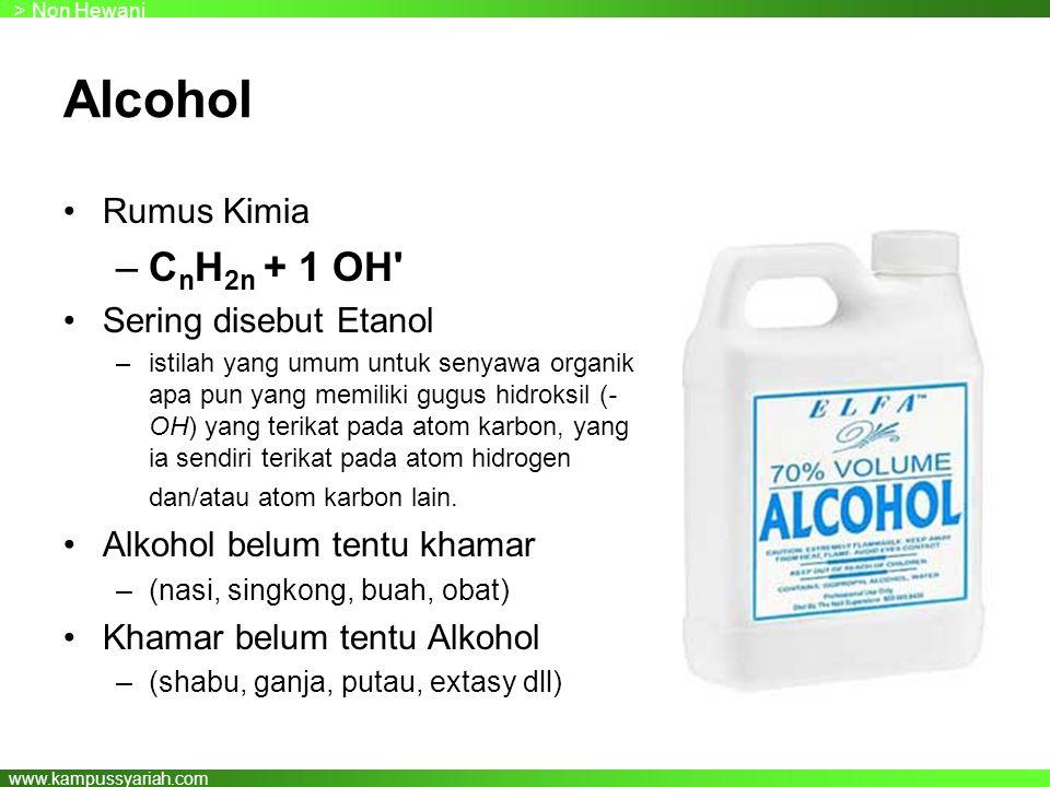 Alcohol CnH2n + 1 OH Rumus Kimia Sering disebut Etanol