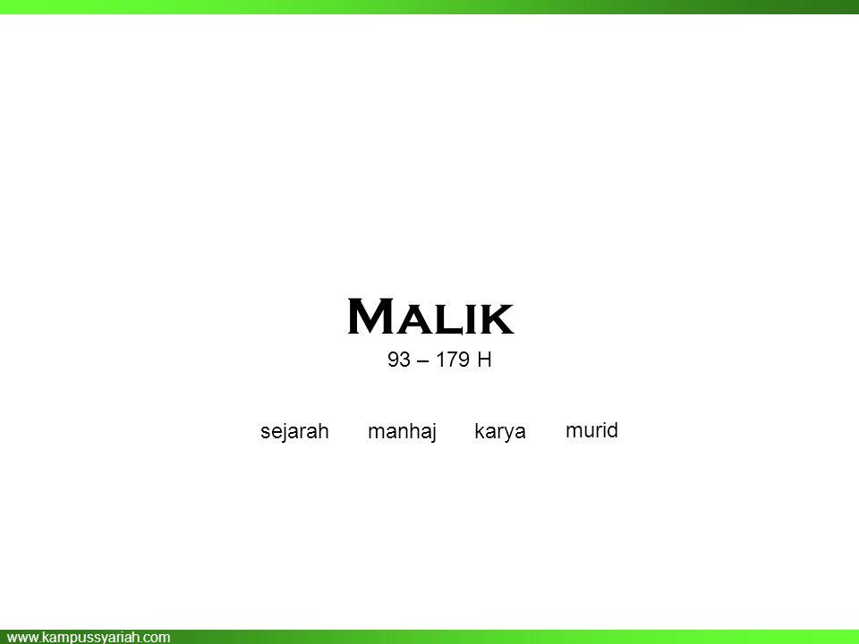 Malik 93 – 179 H sejarah manhaj karya murid