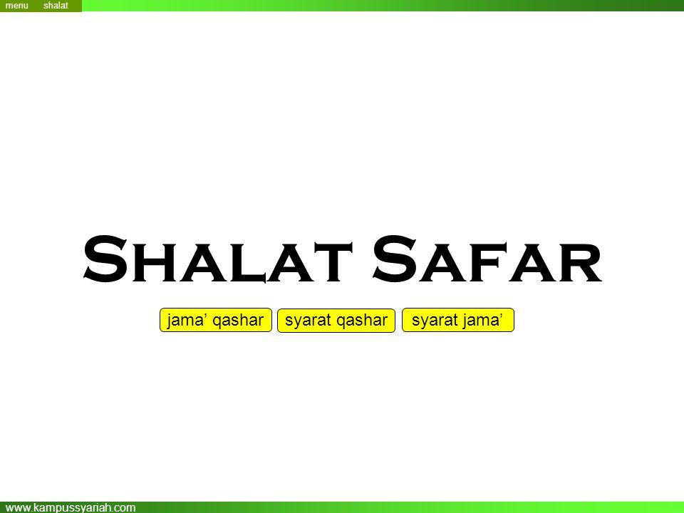 menu menu shalat Shalat Safar jama' qashar syarat qashar syarat jama'