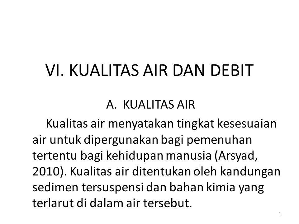 VI. KUALITAS AIR DAN DEBIT