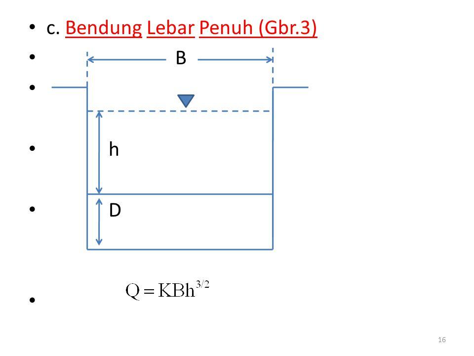 c. Bendung Lebar Penuh (Gbr.3)