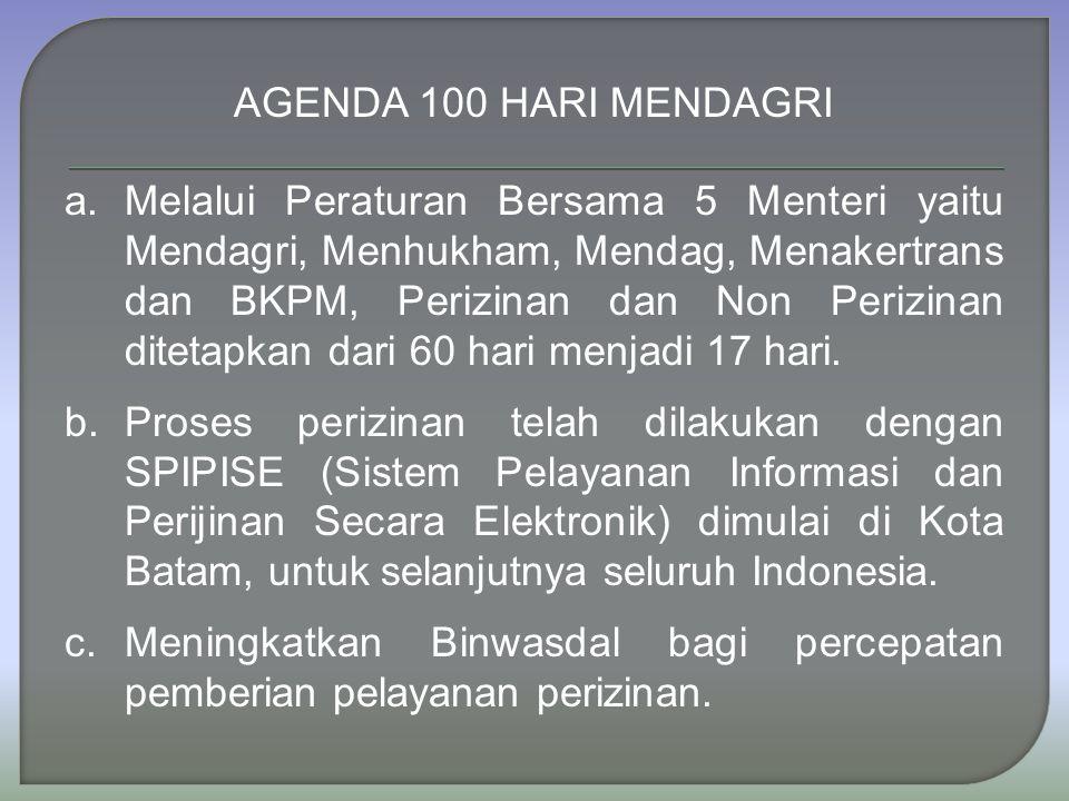 AGENDA 100 HARI MENDAGRI