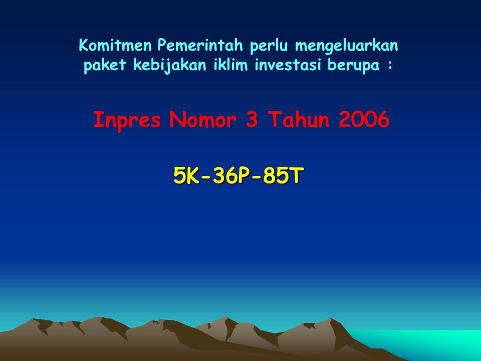 Inpres Nomor 3 Tahun 2006 5K-36P-85T
