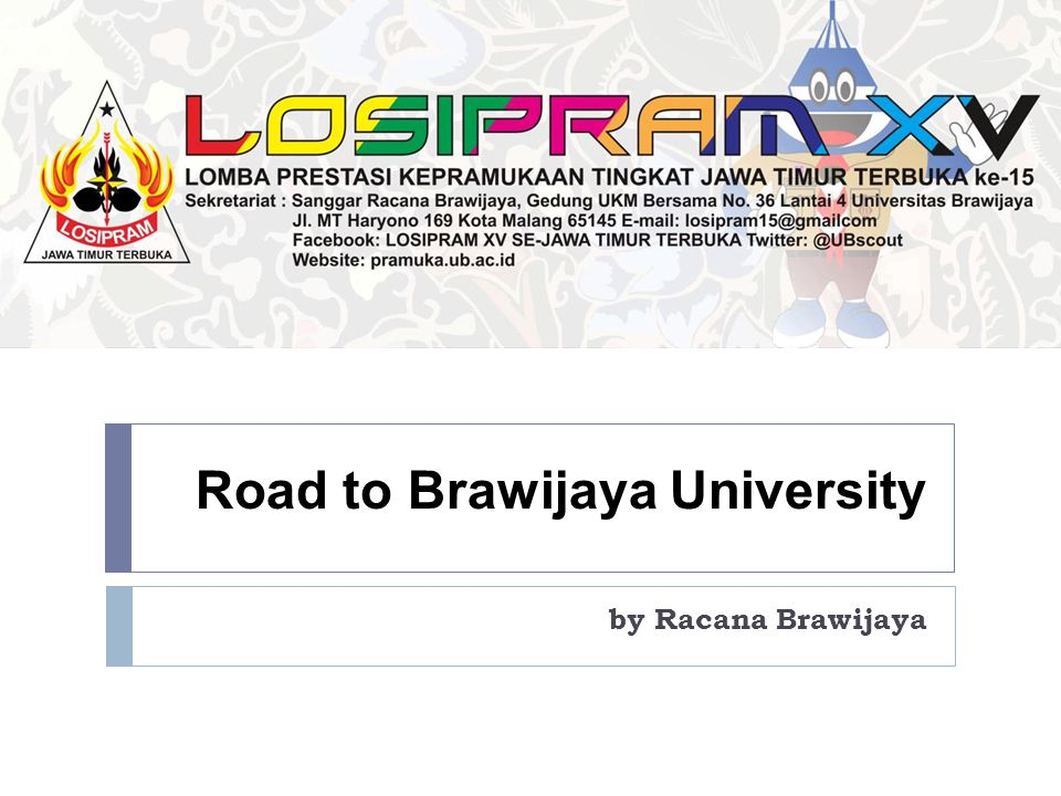 Road to Brawijaya University