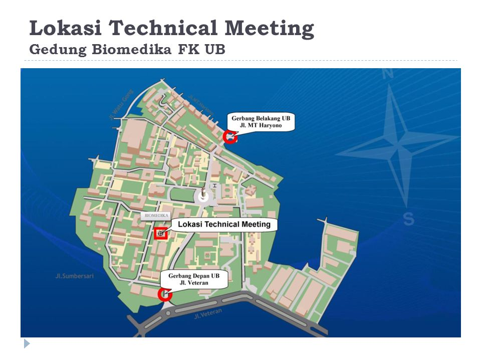 Lokasi Technical Meeting Gedung Biomedika FK UB