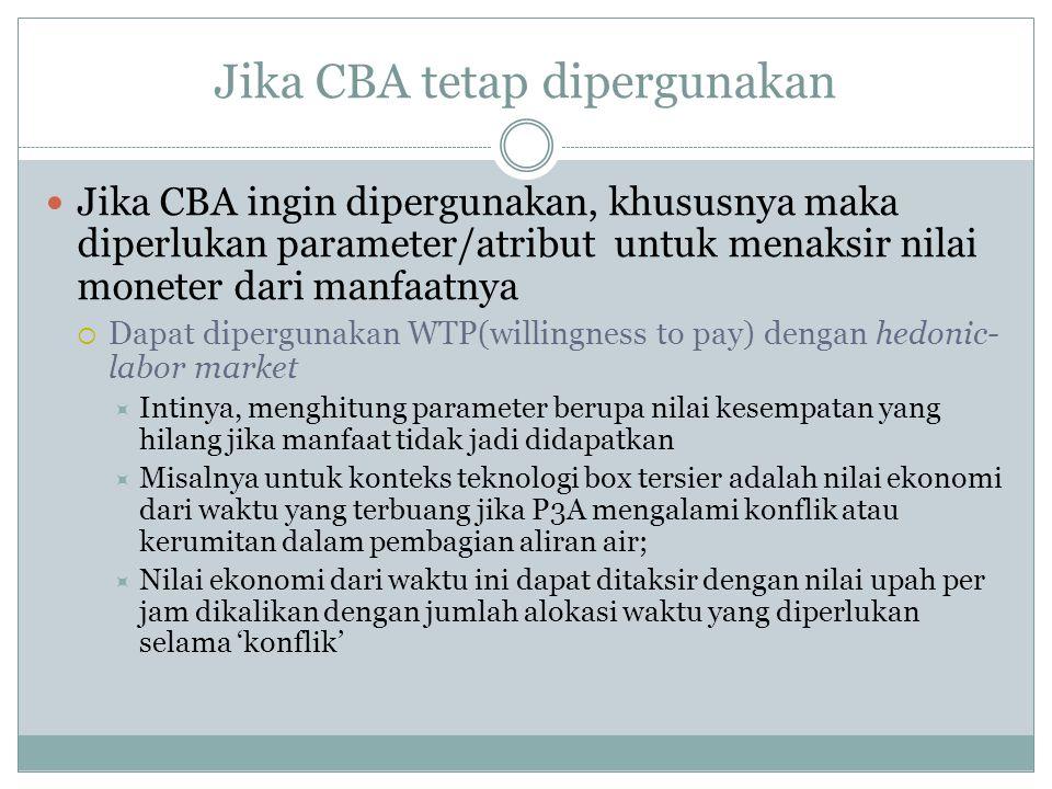 Jika CBA tetap dipergunakan