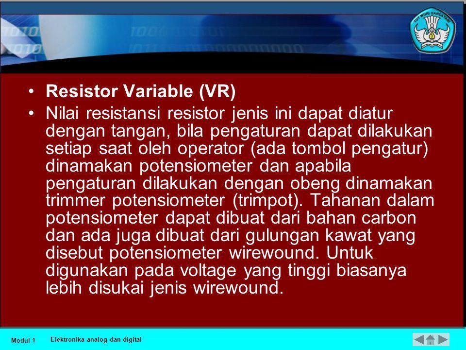 Resistor Variable (VR)