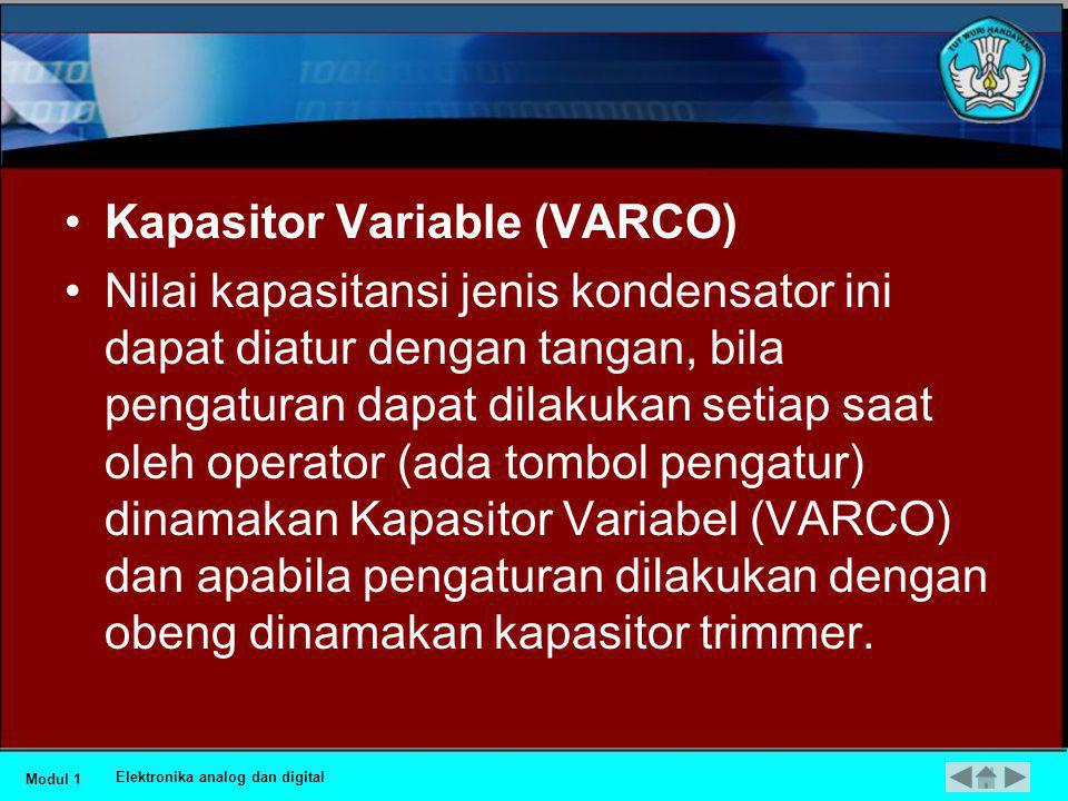 Kapasitor Variable (VARCO)